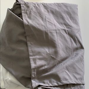 King Size Gray Bedskirt